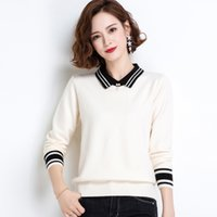 Wholesale baby dolls xl for sale - Group buy 2020 new women s sweater thin early autumn foreign style autumn winter Korean Knitwear knitwear Doll sweater version baby collar bottoming s