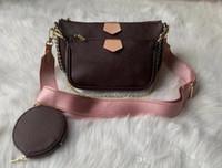 Wholesale designer crossbody bags for sale - Group buy 3 pieces set multi pochette accessories handbag purse genuine leather L flower shoulder crossbody bag ladies purses