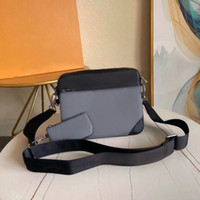 Wholesale khaki cross body bags women for sale - Group buy Genuine leather messenger bag piece set satchel fashion shoulder bag handbag for men presbyopic mini package shoulder bag man