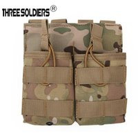 Wholesale tactical pouches resale online - Tactical Molle Magazine Pouches Double package outdoor Vest Belt Multi function to receive bag for