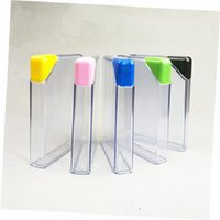 Wholesale water papers for sale - Group buy 5 Colors Lid oz Plastic Notebook Water Bottle ml A5 Book Paper Flat Portable Wine Pot Clear Water Kettle AS Hip Flask KKA1772