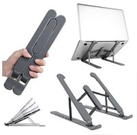 Wholesale foldable computer resale online - Portable Laptop Stand Foldable Support Base Notebook Stand For Macbook Pro Microsoft Lapdesk Computer Laptops Holder Cooling Riser color