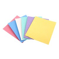 Swedish Dishcloth Cellulose Sponge Cloths Solid Colors Or Customized Printed Cloth