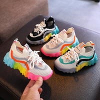 Wholesale shoes for children quality for sale - Group buy High Quality New Sport Children Shoes Kids Boys Sneakers Spring Autumn Net Mesh Breathable Casual Girls Shoes run Shoe for Kids