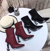 Wholesale skins boots for sale - Group buy With Box Top Quality Genuine Leather Brand New Sexy Shoes Woman Boots High heeled Shoes Pointed toe Fashion Single High heel Wedding Shoes