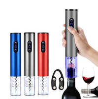 Wholesale champagne openers for sale - Group buy Electric Wine Bottle Opener Electric Champagne Corkscrew Battery Operated Bottle Opener Kitchen Bar Home Tools Wedding Party Gift DHE2058