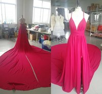 2021 Honorable Prom Dress Chiffon Aline Homecoming Party Dress with Long Train and sexy Split Custom Made Dress