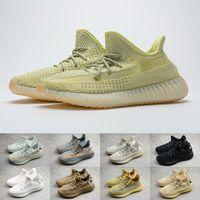 Wholesale womens flats shoes for sale - Group buy Kanye V2 Sneakers Mens Womens Antlia Israfil Flax Marsh Sulfur Black Lundmark Zyon M Reflective Static Cinder Yechiel Beluga Running Shoes