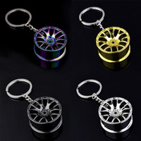 Wholesale car wheel tire parts for sale - Group buy Luxury Wheel Hub Chain Zinc Alloy Tire Styling Car Ring Modification Parts Key Holder for Ford Auto Accessories