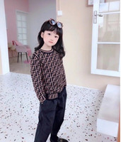 Wholesale children cashmere sweater resale online - Kids Cashmere Sweatshirt Brand Designer Children Clothes Boys Girl Letter Long Sleeve Casual Pullover Children Cashmere Sweater Jumper A4673