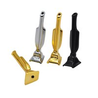 Wholesale pipes snuff resale online - Aluminum Alloy Snuff Snorter Nasal Pipe Trophy Shape Portable Smoking Pipes Gold Silver and Black tobacco Pipes Snuff Hoover HWB720