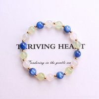 Wholesale blue agate bracelet resale online - OF4Rx Dikai natural blue moon Diy Bracelet Duobao bracelet fashionable DIY for cYmY gift jewelry with girlsgirlfriends