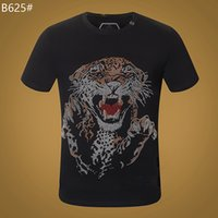 Wholesale crystals skulls resale online - 20ss T Shirts Men Summer Skull T shirt Basic crystal Cotton Casual Punk High Quality letter tops Tee clothing woman Mens short sleeve M XL