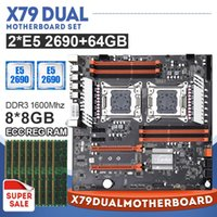Wholesale LGA2011 X79 Dual Motherboard Set with Xeon E5 CPU and x8GB G Mhz DDR3 ECC Support M NVMe SATA3 USB3