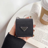 Fashion Desinger Airpods Case Backpack Style 4 Colors Airpods Package with Inverted Triangle Pattern with Keychain