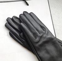 Fashion- Women's Gloves Genuine Leather Winter Warm Fluff Woman Soft Female Fur Lining High-quality Mittens