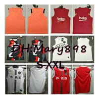Wholesale hot football men resale online - hot best quality Paris vest soccer Jersey shorts flamengo vest football shirts pants Style S M L XL XXL
