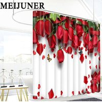 Wholesale meijuner for sale - Group buy Meijuner D Bathroom Red Rose Flower Waterproof Fabric Bathroom Shower Curtain Bedroom Valentine s Day Wedding Party Decoration