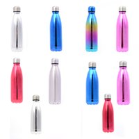 Wholesale water cooler cups resale online - Stainless Steel Cola Water Bottles Vacuum Insulated Large Capacity Water Bottles Summer Thermos Insulation Cool Cups sea ship GWE2510