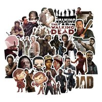 Wholesale walk stickers for sale - Group buy 50pcs The Walking Dead Anime Stickers Waterproof Pvc Decal For Laptop Luggage Phone Case Suitcase Skateboard Scrapbook Stickers bbygdK