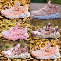 Wholesale pink light huarache resale online - 2019 New Huarache Run Ultra Hyper Pink Women Athletic Running Shoes Huaraches Platinum Light Blue Sneaker Outdoor Shoes
