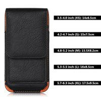 Wholesale belt bag for mobile phone for sale - Group buy Universal Leather Case iPhone Samsung Huawei Xiaomi Mens Waist Pack Belt Clip Bag for Mobile Phone Pouch Holster