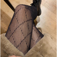 Womens Sexy Lace Stocking Fashion Letters Pattern Long Socks Party Style Leggings Girls Tights 2021 New Free Size High Quality for Wholesale