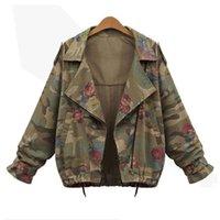 Wholesale camo military jacket women resale online - Sisjuly Autumn Spring Women Camo Jacket Military Fashion Camouflage Windbreaker Short Coat Harujuku High Street Outwear