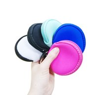 Wholesale Neoprene Waterproof Zipped Coin Pouch Mask Holder Earbud Case with Keyring Earphone Pouch for Kids KKF1903