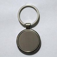 Wholesale blank key rings resale online - Customizable LOGO Styles Shape Metal Blank Tag Creative Car Keychain Business Advertising Personalized Stainless Steel Key Ring BWD2445