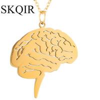 Wholesale brain pendant resale online - Pendant Woman Choker Doctor Gold Dangle Nurse Unique Gift Brain Medical Chain Necklaces Jewelry Accessories Steel Stainless sqcYVs
