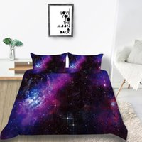 Wholesale galaxy bedding for sale - Group buy Thumbedding Galaxy Bedding Set King Size Mysterious Duvet Cover Queen Romantic Twin Full Single Double Comfortable Bed Set