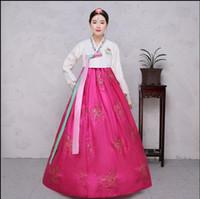4 Colors Sequins Korean traditional costume Women Elegant Hanbok Korean Dress