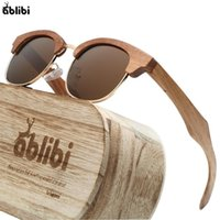 Wholesale mirror friends for sale - Group buy Wood Men Polarized UV400 Semi Rimless Ebony Wooden Sunglasses Men Engraved Gift for your friends on Birthday