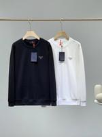 Wholesale mens front resale online - 2020fw popular Mens Designer Metal triangle logos sweater prd Pullover luxury Long sleeve Sweatshirt outdoor streetwear top quality