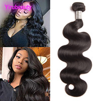 Wholesale sample hair bundles for sale - Group buy Peruvian Human Hair Body Wave One Bundle Sample Virgin Hair Brazilian Hair Extensions Double Wefts Weave Natural Color inch inch
