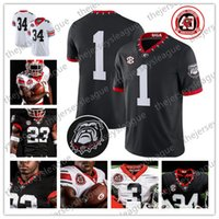 Georgia Bulldogs 2020 UGA 40TH 100TH Custom Any Name Number White Black Red Pickens Blankenship Fromm Milton Swift Daniels Jersey