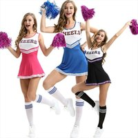 Wholesale girl dresses games resale online - Women Girls Cheerleading uniforms Game National Club School Team Cheerleading Dress New Drop Shipping