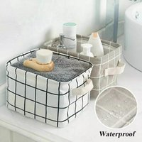 Wholesale office cabinet organizers resale online - Foldable Deaktop Storage Basket Sundries Storage Box Cabinet Underwear Holder Cosmetic Storage Bags Stationery Washing Organizer AHD1275