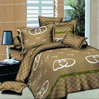 yorgan satışı toptan satış-Branded Linen Bedding Sets Queen Cotton Quilt Cover Sets sale 2 Pillow Cases Bedding Sheet Duvet Cover