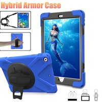 Wholesale kids ipad air case resale online - Hybrid Tablet Case For Ipad Pro Ipad Air Samsuang Tab A Kids Tablet Armor Cover With Belt