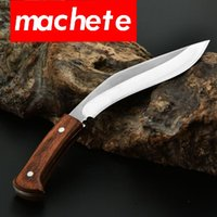Wholesale Dogleg knife stainless steel Cutlass To survive and defend oneself Field tactics Nepal curved blade outdoors