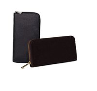 Wholesale male clutches resale online - New fashion women long wallet and clutch purse handbags for male Famous wallet men zipper wallet phone bag