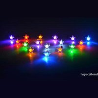 Wholesale dance earrings studs for sale - Group buy Fashion Earring Five pointed Star LED Flash Glow Ear Stud For Halloween Christmas Gift Dance Party Decoration ZA5644