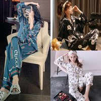 Wholesale sexy hots couple for sale - Group buy UsHS Sexy sweet bee Couples Flower Sleepwear sets women and men Spring Koreanquality long sleeve women pyjamas Hot sale Y200713