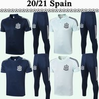 Wholesale spain soccer blue jersey resale online - 2020 ISCO DIEGO COSTA A INIESTA Soccer Jerseys Mens Polo Suit Spain National Team ASENSIO Sapphire Light Blue Football Shirt Short Sleeve