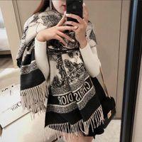 Wholesale plain pashmina scarf for sale - Group buy Classic Designer cashmere scarf For Men and Women luxury Winter cashmere design Big Letter pattern cashmere Pashminas Shawls scarves A944