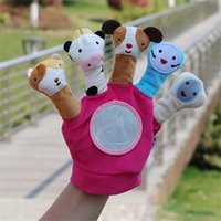 Wholesale education child baby dolls resale online - Animal Finger Puppet Plush Toys Child Baby Dolls Tell Story Props Boys Girls hand Puppets kids early education toy