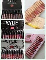 Wholesale kylie jenner lipsticks for sale - Group buy KYLIE JENNER Lipgloss fall pink take me on kyshadow storm colors Matte Liquid Lipsticks Cosmetics Lipgloss Lip Gloss Set