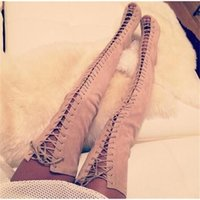 Wholesale boot lace covers resale online - Discount luxury bootsSummer hot piptot women s cut outs Fashionable metal study cover women muslo Gladiator sexy Boots high heels